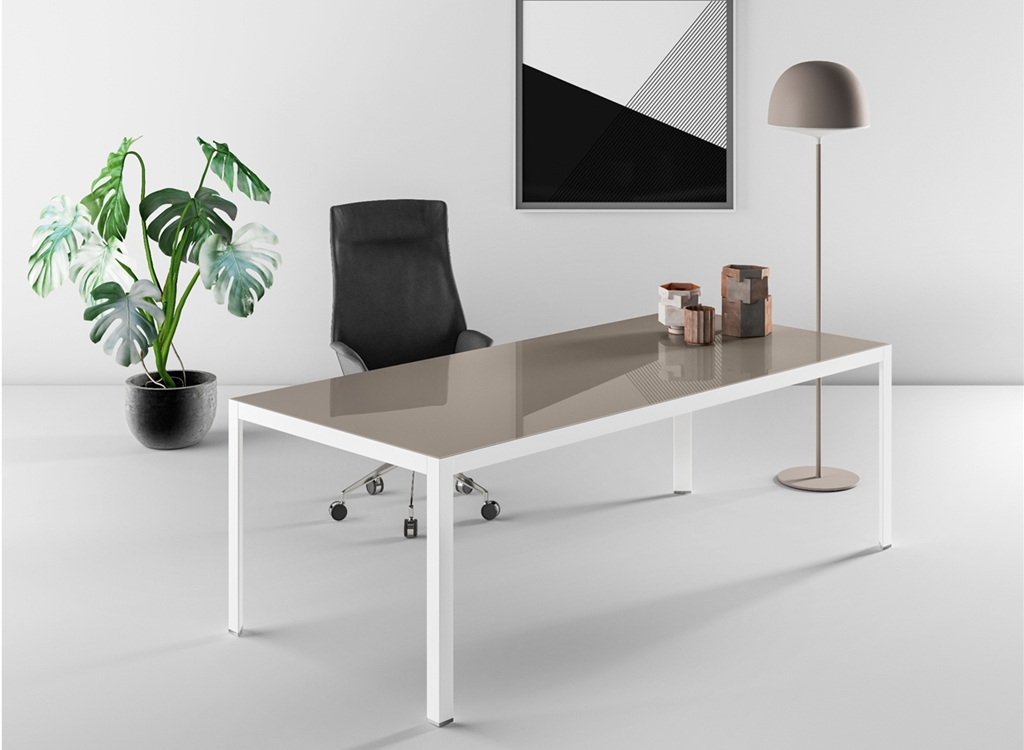 glass office table metal glass desks office from calibre furniture