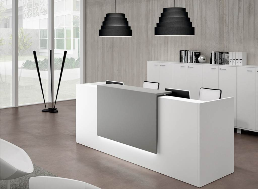 zone reception desks. Black Bedroom Furniture Sets. Home Design Ideas