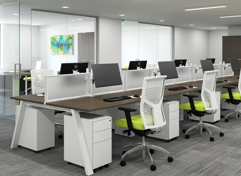 Picture of: Sky A Frame Bench Desks Calibre Office Furniture