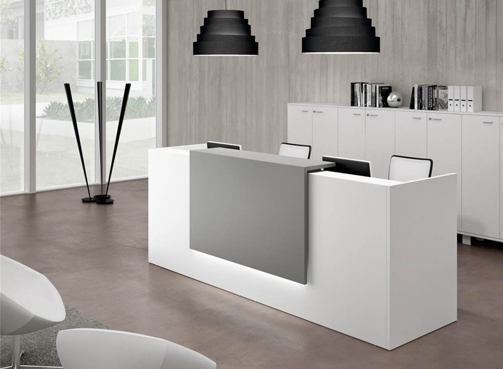Office reception desks counters calibre furniture for Bureau reception